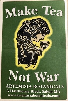 Sticker Make Tea Not War