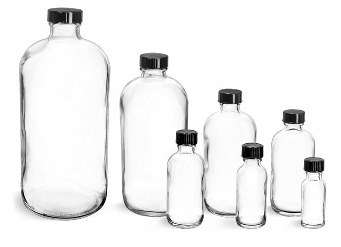 Bottle Plastic 8 oz. White Cap