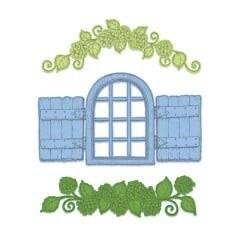 Die Cottage Window & Hydrangea