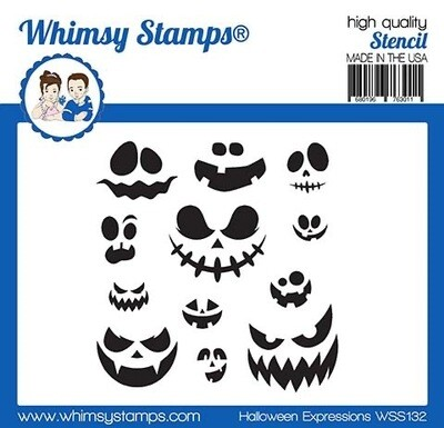 Stencil NEW Halloween Expressions