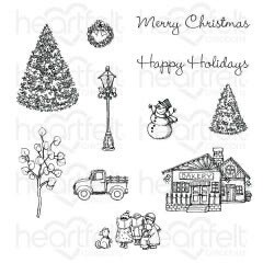 Stamp Cling Festive Winterscapes