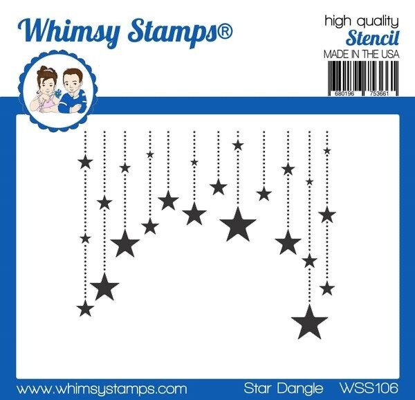 Stencil Star Dangle
