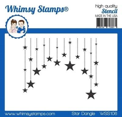 Stencil Star Dangle