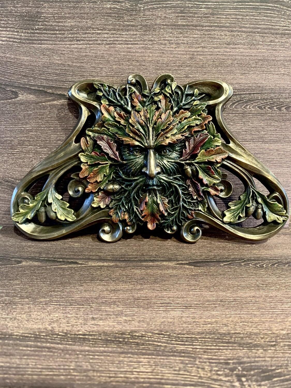 Plaque Green Man Autumn Maple