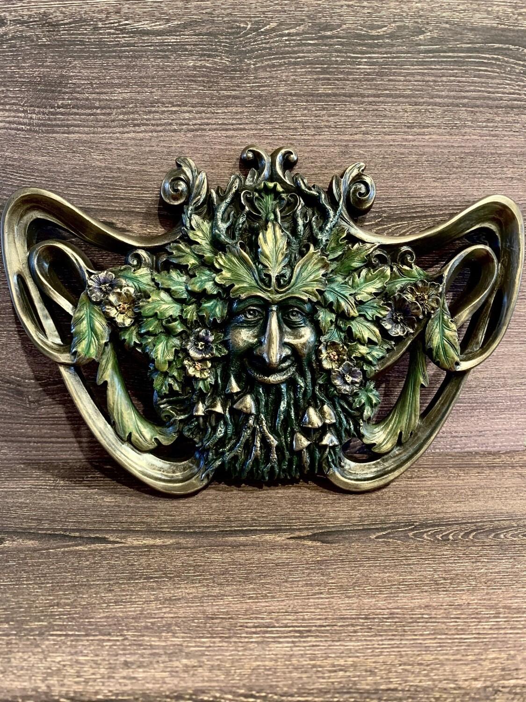 Plaque Green Man Spring Mushroom