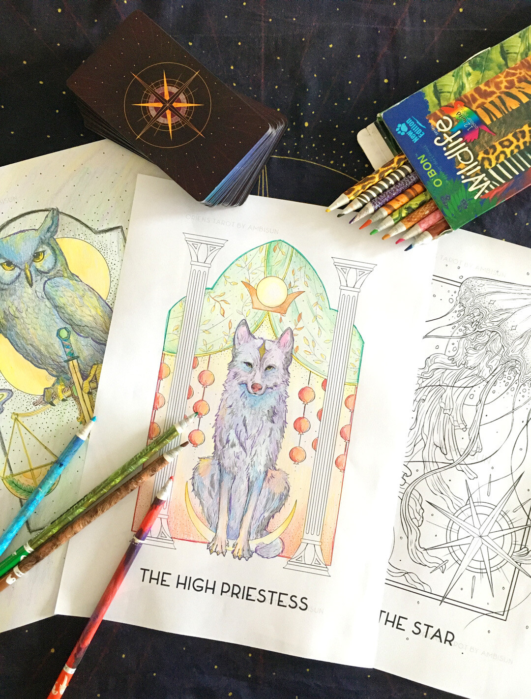 Oriens Tarot Coloring Sheets ( Digital Download ) - 38 Pages