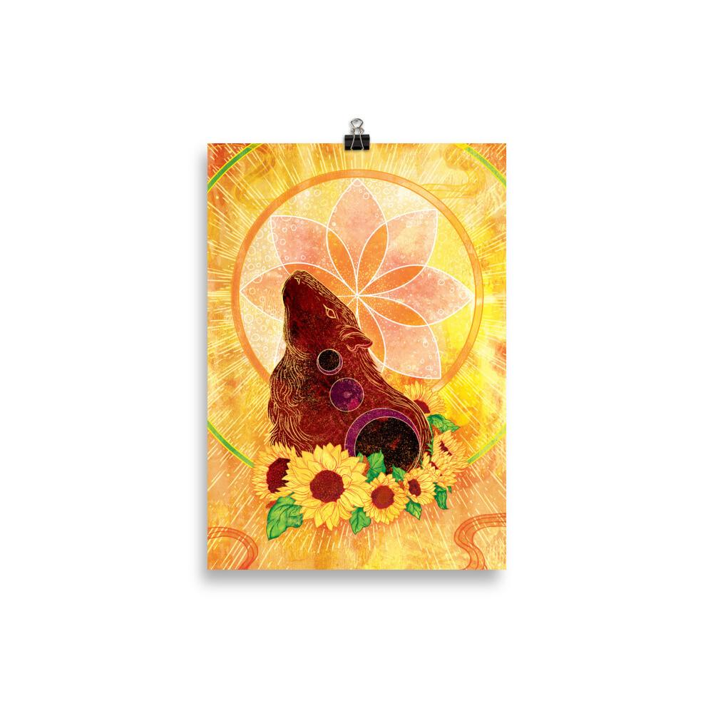 The Sun Tarot Poster - 21×30 cm