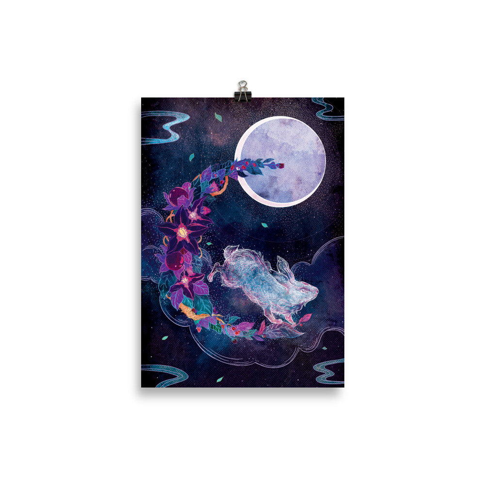 The Moon Poster - 21×30 cm