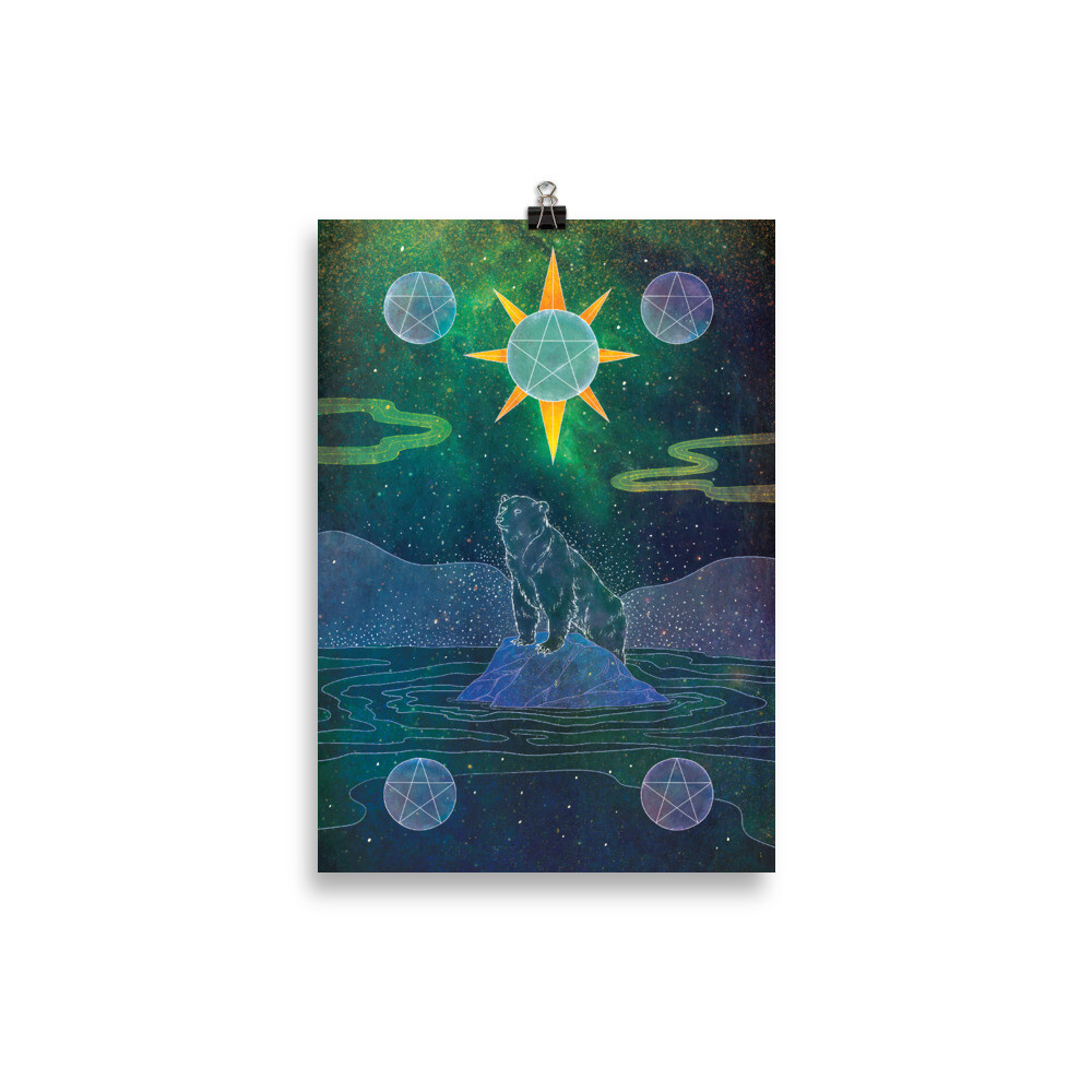 Five of Pentacles Poster - 21×30 cm