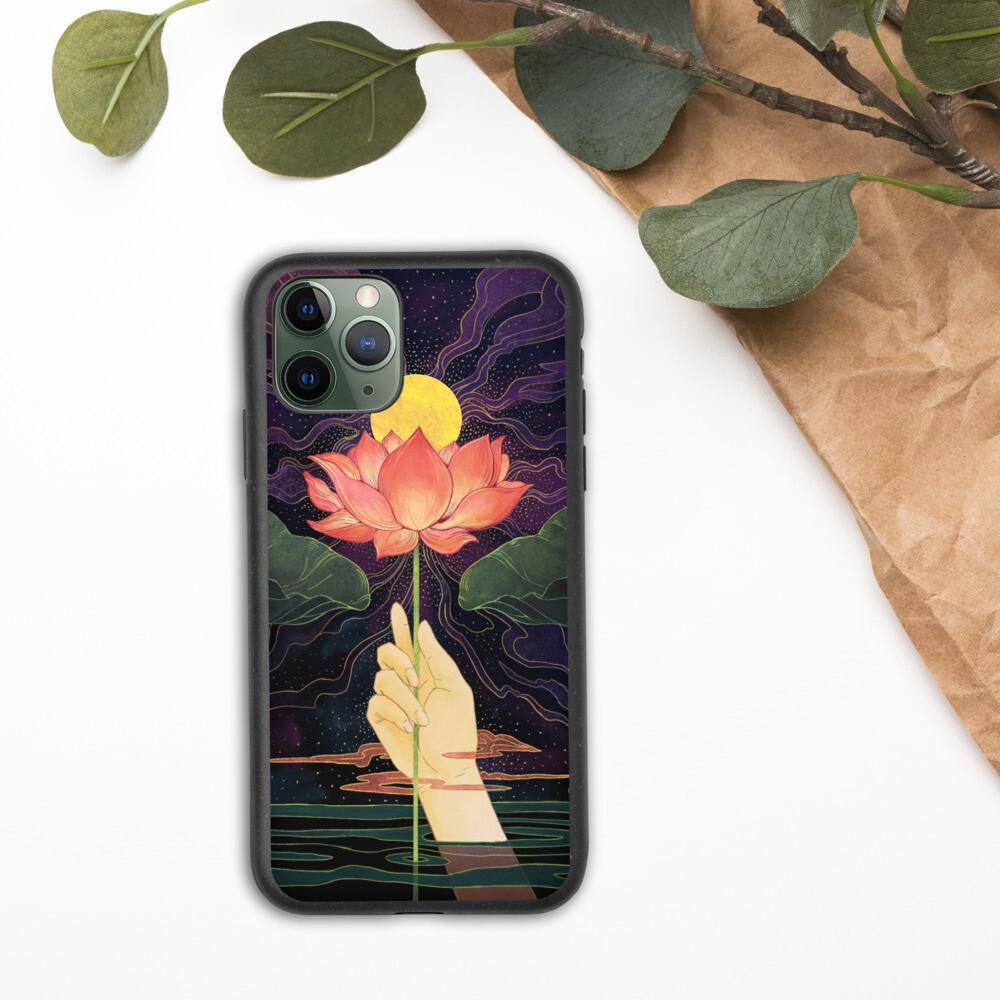 Night Lotus Biodegradable Iphone case