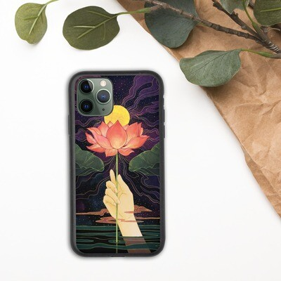 Night Lotus Biodegradable Iphone case