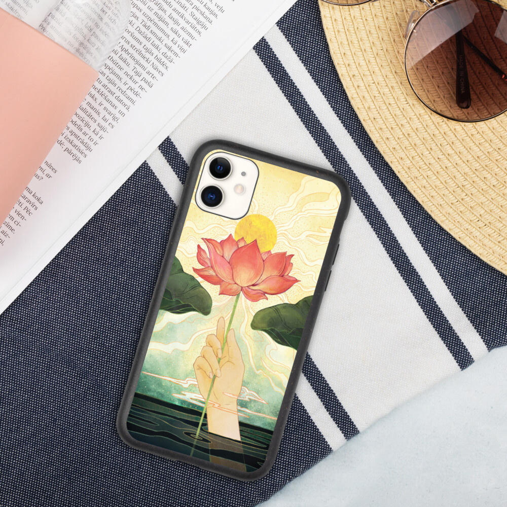 Day Lotus Biodegradable Iphone case