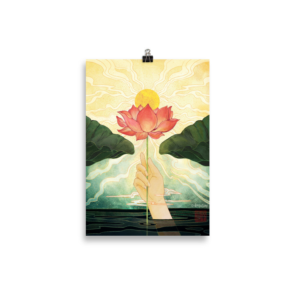 Day Lotus A4 Poster