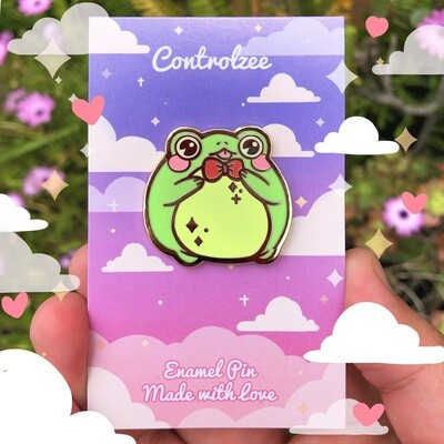 ♡ Handsome Froggy Enamel Pins (Red) ♡