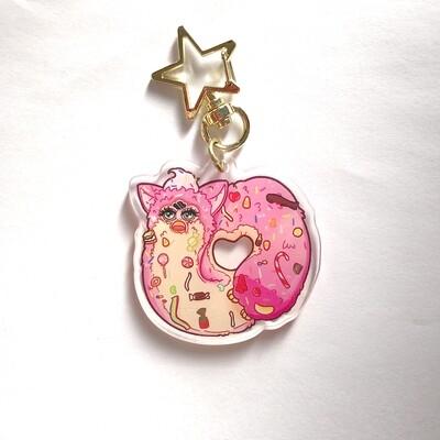 Donut Furby Acrylic Keychain