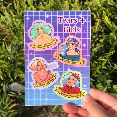 Girls +Tears Sticker Sheet