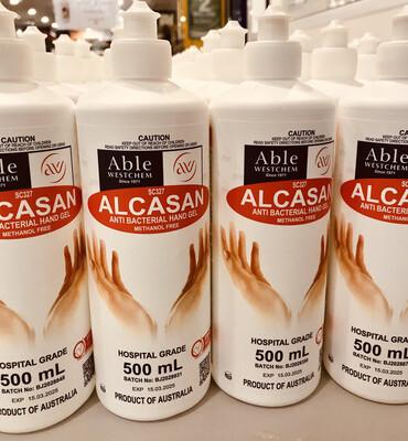 Alcasan Alcohol Based Hand Sanitiser 70% 500mL