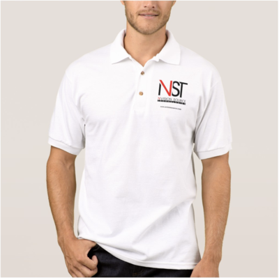 Men White Business Polo Shirt