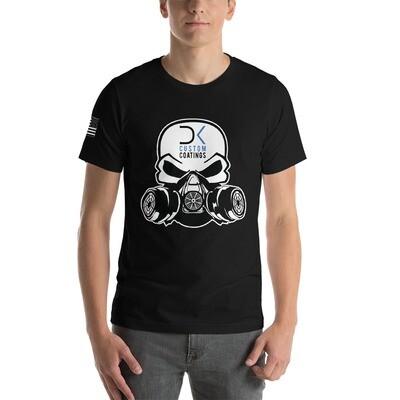 Black Short Sleeve Unisex Tee with DK Custom Coatings Logo