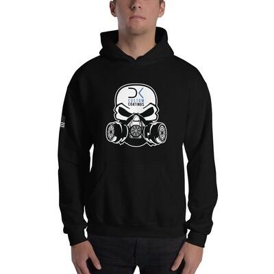 Black Unisex Hoodie with DK Custom Coatings Logo