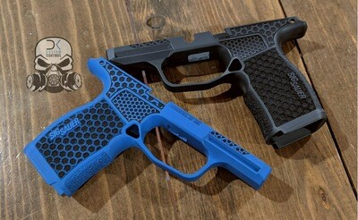 P365XL Module with 1 Color Cerakote and Hexagon Stippling