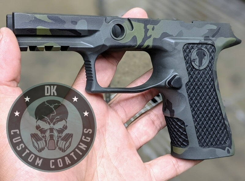 Sig Sauer P320 X-Compact - Multicam Black Cerakote - Diamond Mesh Laser Stippling.