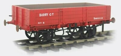 Barry Railway/Great Western 10 Ton High Sided Wagon (4 Plank)