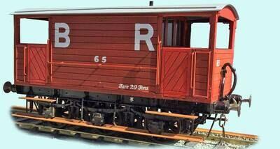 Barry Railway/GW/BR Diagram 91 6w Brake Van