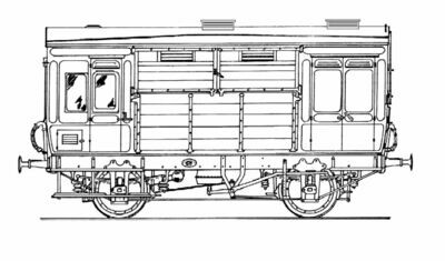 CC021 North Staffs/LMS D1946/7 Horsebox