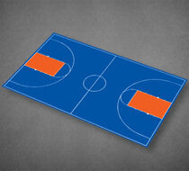 Basketball Full Court 51'x 83'11''