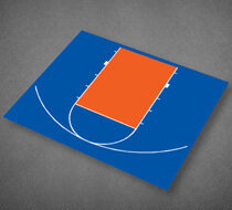 Basketball Half Court 30'9' x 25'8''