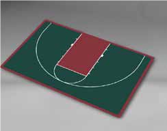 Basketball - Half Court 44'3