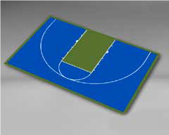 Basketball Half Court 45'11''/29'11''
