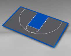 Basketball - Half Court 59'5