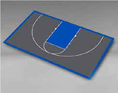 Basketball - Half Court 59'5