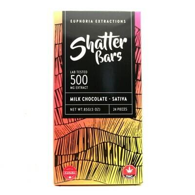 SHATTER BAR -  Sativa Milk Chocolate [500mg]