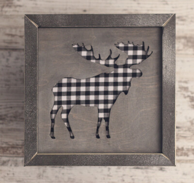 Moose (White/Black Check)
