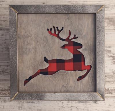Reindeer (Buffalo Plaid)