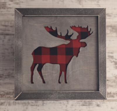 Moose (Buffalo Plaid)