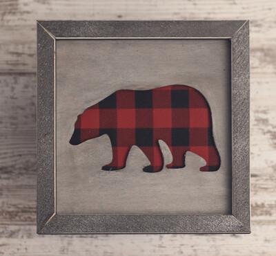 Bear (Buffalo Plaid)