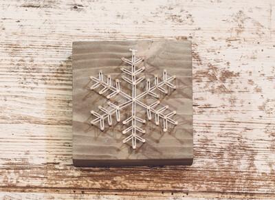 Snowflake 2 String Art Block