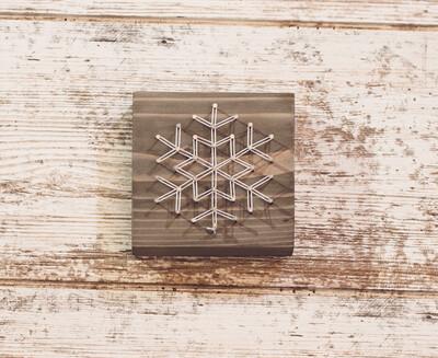Snowflake String Art Block