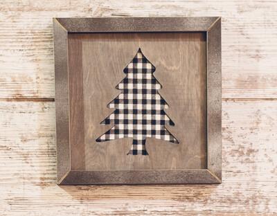 Christmas Tree (White/Black Check)