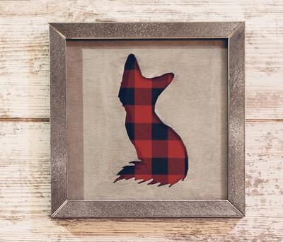 Fox (Buffalo Plaid)