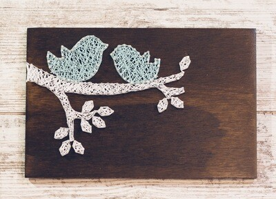 Two Birds On A Branch String Art