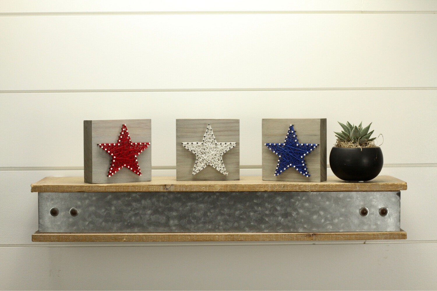 Red, White And Blue Star Blocks