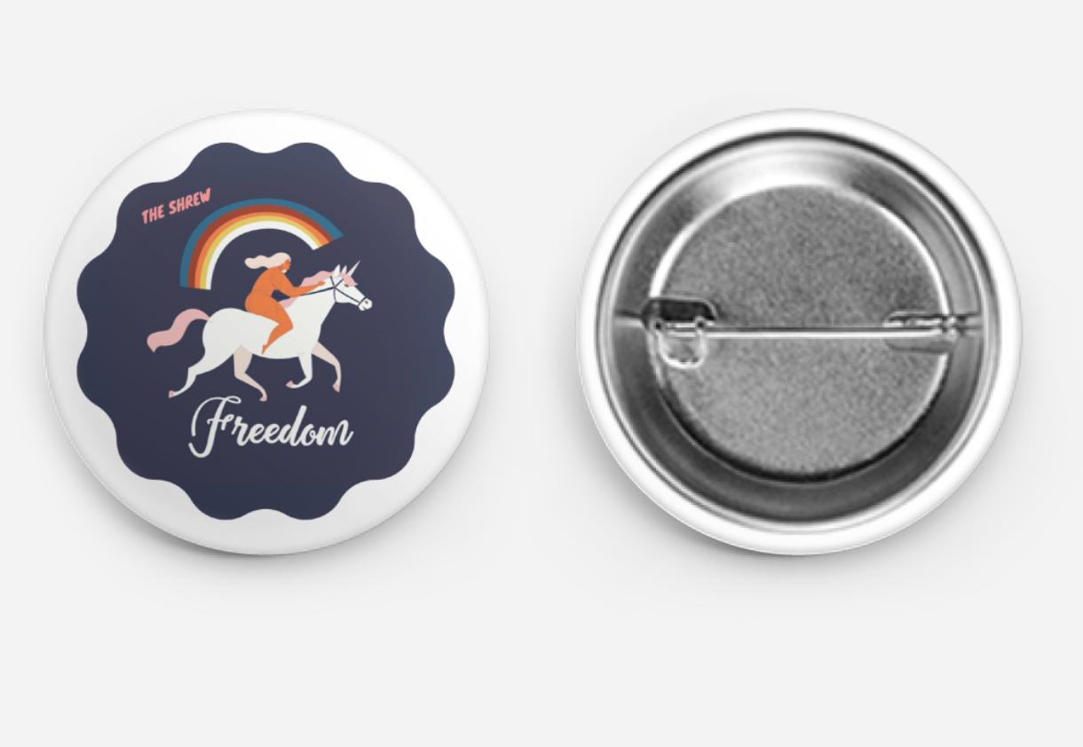 The Freedom Unicorn Button