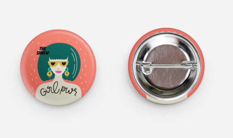 Retro, Kewl Girl Power Button