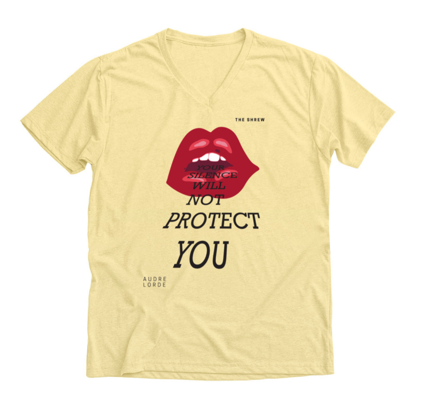 Banana Creme #SpeakOut Campaign V-Neck Unisex Tee