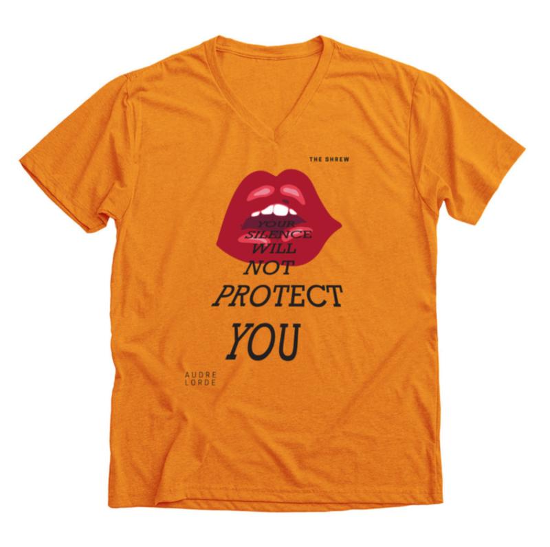 Orange #SpeakOut Campaign V-Neck Unisex Tee